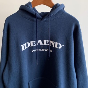 IDEAEND Arch Logo Hoodie Navy