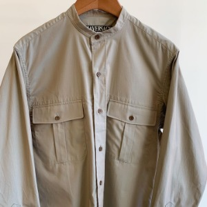 Haversack Top Dyeing Ripstop Safari Shirts Khaki
