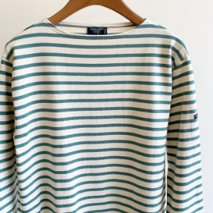 Saint James Guildo Stripe Ecru / Pool