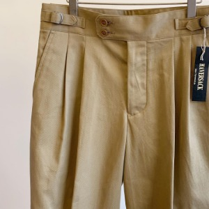 Haversack Selvage Chino Gurka Pants Brown