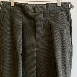 Kaptain Sunshine One Pleats Wide Trousers Light Olive