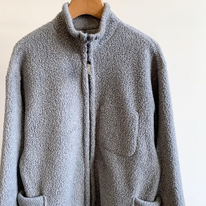 Porter Classic Fleece Zip Up Shirt Jacket Grey