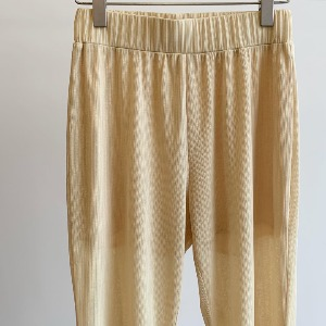 Amomento Pleats Pants Yellow (Women)
