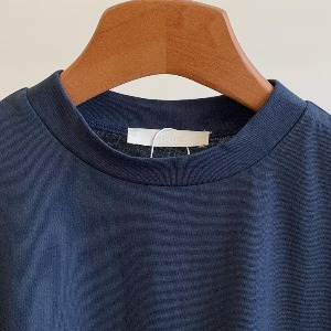 Amomento Mock Neck Tee Navy (Women)