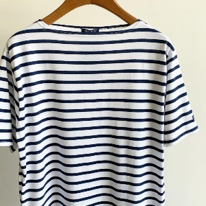 Saint James Piriac Stripe Short Sleeve Neige / Marine