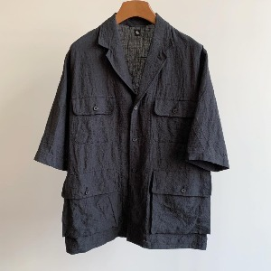 Kaptain Sunshine SS Safari Jacket Ink Black