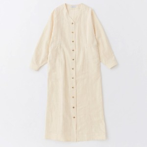 Phlannel Linen Cotton Wool Twill Cardigan Dress Cream (Women)