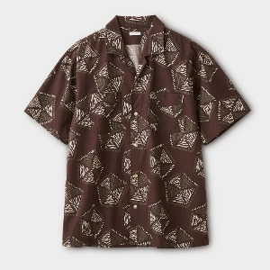 Phigvel African Pattern SS Shirt Purple Brown
