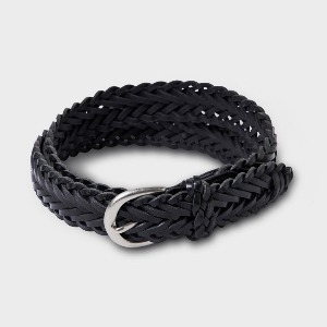 Phigvel Leather Mesh Belt Black