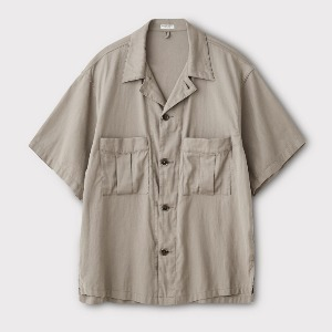 Phigvel Resort SS Shirt Jacket Taupe Grey