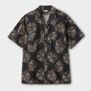 Phigvel African Pattern SS Shirt Ink Black