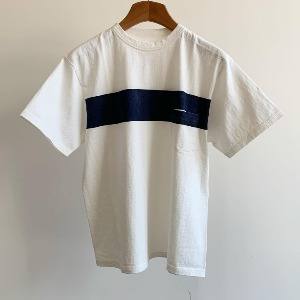 Kaptain Sunshine West Coast Tee White X Navy Line