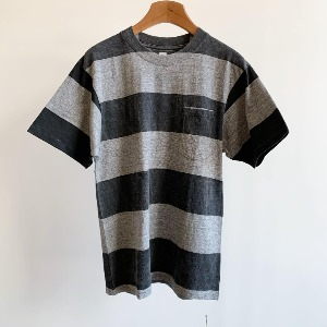 Kaptain Sunshine Wide Border Printed Tee Feather Grey X Black Print