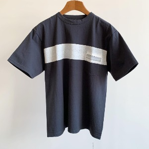 Kaptain Sunshine West Coast Tee Dark Navy X White Line