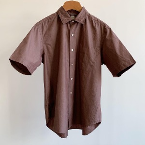 Kaptain Sunshine Regular Collar S/S Shirt Brown Chambray