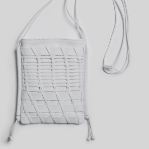 Hereu 'TRENA' Flat Square Cross-body Bag White