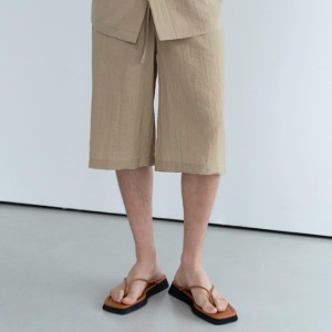 Le 17 Septembre Homme / 917 Mid-calf Length Pants D.Beige