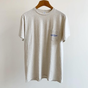 Velva Sheen Logo Pocket T-Shirt Oatmeal