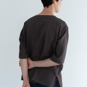 Le 17 Septembre Homme / 917 Half Sleeve Pullover D.Brown