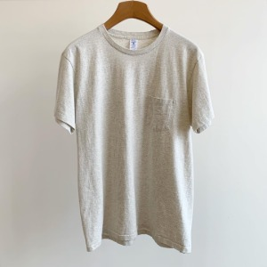 Velva Sheen Tubular Pocket T-Shirt Oatmeal