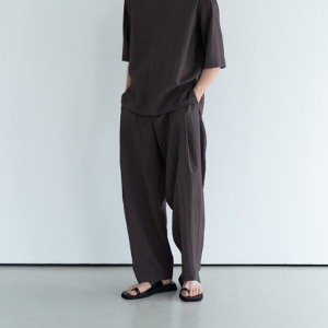 Le 17 Septembre Homme / 917 Side Pleated String Pants D.Brown