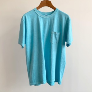 Velva Sheen Pigment Pocket T-Shirt Sky
