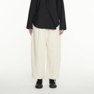 Studio Nicholson Dordoni Volume Pleat Pants Cream (Women)
