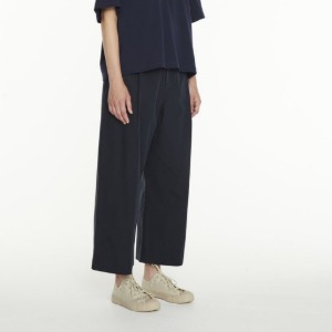 Studio Nicholson Greta Pleat Wide Leg Pants D.Navy (Women)