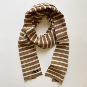Saint James Raye Wool Scarf Camel / Ecru