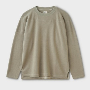 Phigvel Football LS Top Taupe Gray