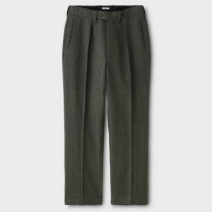 Phigvel Goodman's Pin Tuck Trousers Herringbone
