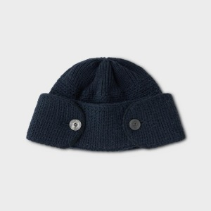 Phigvel Buttoned Watch Cap Navy