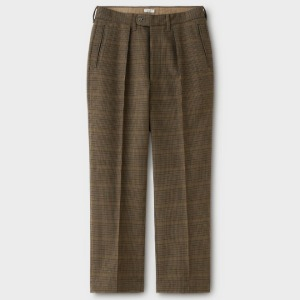 Phigvel Goodman's Pin Tuck Trousers Check