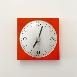 1973 KRUPS Wall Clock Germany Orange