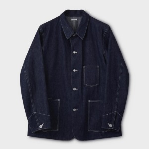 Phigvel Denim Chore Jacket Indigo Rigid