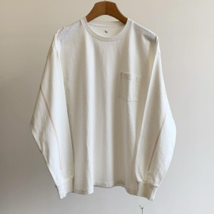Kaptain Sunshine West Coast Long Sleeved Tee White X Sand Line