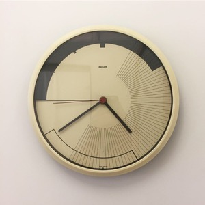 1980's Philips Modernist Round Wall Clock