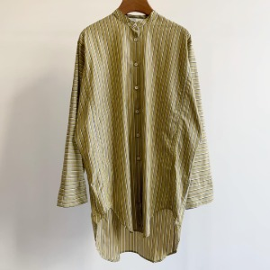 Studio Nicholson Bonsho Big Shirt Broad Stripe Mustard (Women)