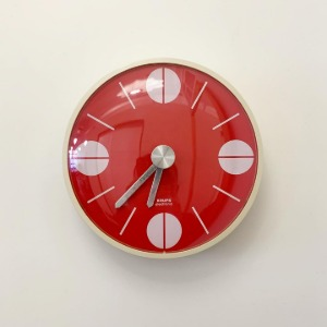 1973 KRUPS Wall Clock Germany Red