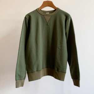 Buzzrickson Tubular Crew-neck Sweat Shirt Olive