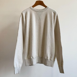 Buzzrickson Tubular Crew-neck Sweat Shirt Oatmeal