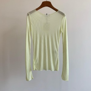 Amomento Ribbed Long Sleeve Yellow