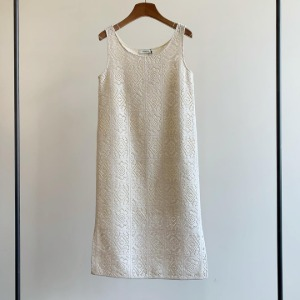 Amomento Crochet Dress Ivory