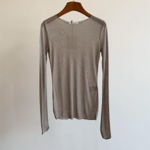 Amomento Ribbed Long Sleeve Beige