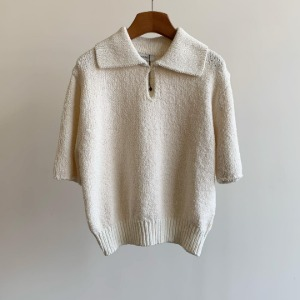 Amomento Wide Collar Knit Ivory
