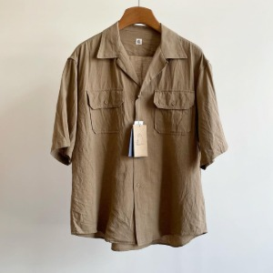 Kaptain Sunshine Open Collar SS Shirt Khaki
