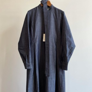 Phlannel Cotton Linen Light Denim Shirt Dress Indigo (Womens)