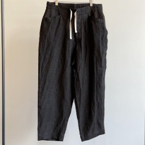 Haversack Mud Dyed Linen Wide Easy Trousers Dark Brown