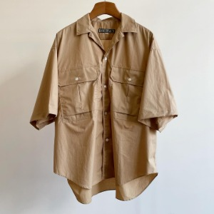 Haversack Typewriter Weather Cloth Safari Shirt Beige