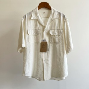 Kaptain Sunshine Open Collar SS Shirt White